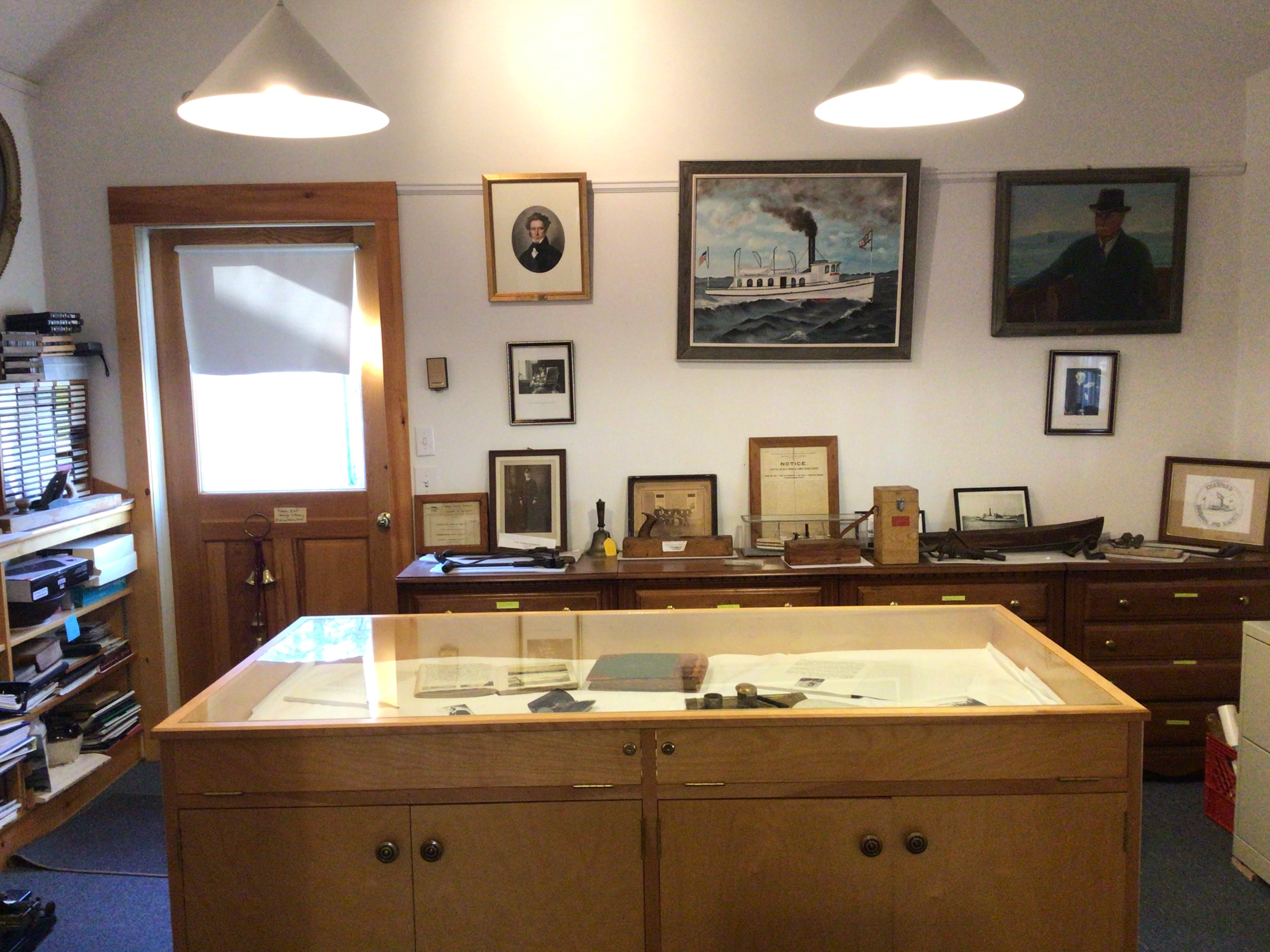 Interior of the Islesford Historical Society room taken from the Islesford Library backroom
